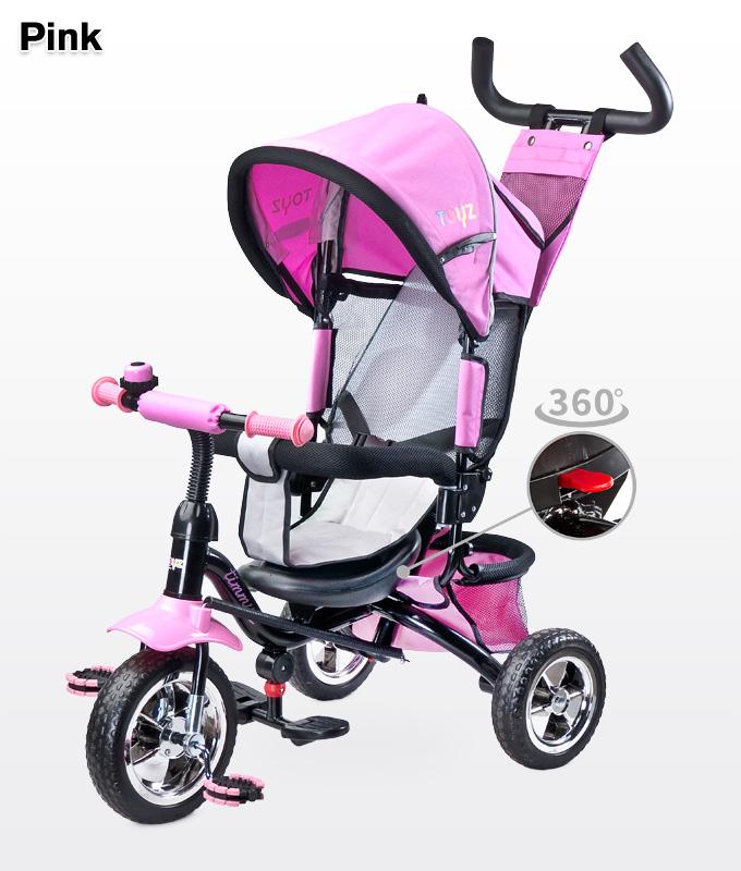 Rowerek trójkołowy z obracanym siedziskiem 360 Timmy, Toyz Pink