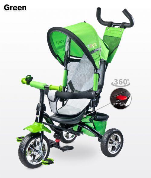 metalowy rowerek trójkołowy z obracanym siedziskiem 360 Timmy, Toyz Green