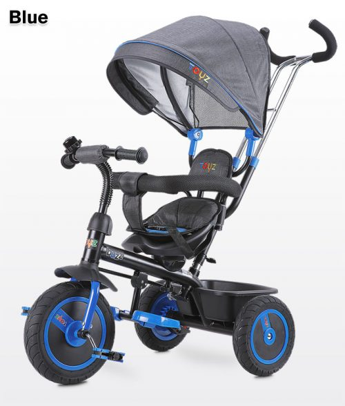 Rowerek 3-kołowy Buzz z obracanym siedziskiem, daszekm i koszykiem na zakupy - Toyz Blue
