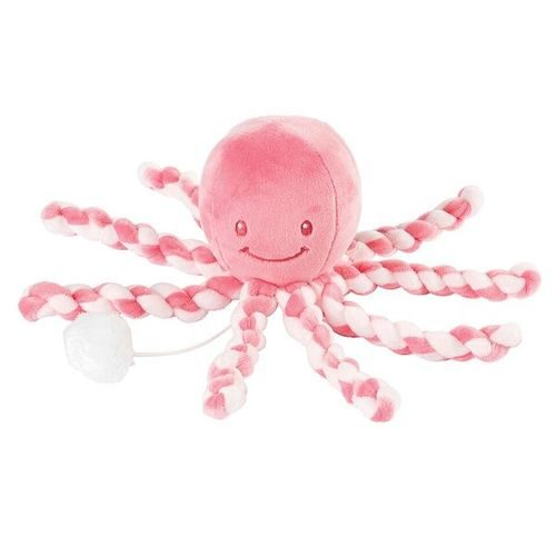 Pozytywka dla niemowląt ośmiorniczka Nattou różowa