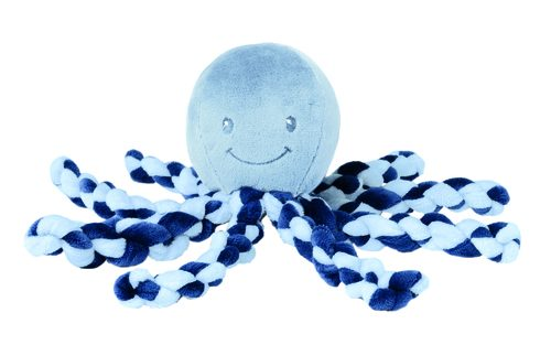 Przytulanka dla niemowląt ośmiorniczka Nattou Navy Blue