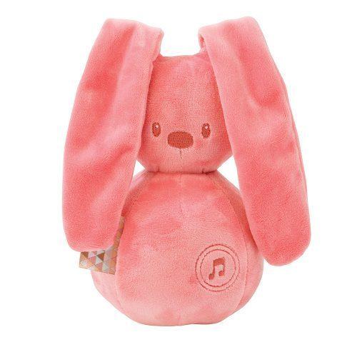 Pozytywka dla niemowląt Nattou Lapidou królik coral 20 cm