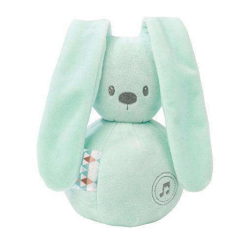 Nattou Lapidou królik miętowa pozytywka dla niemowląt 20 cm