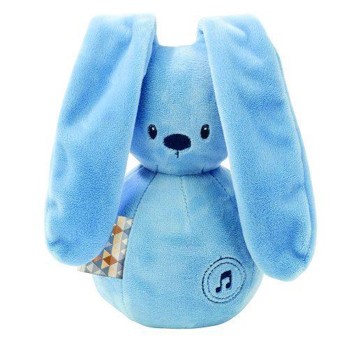 Nattou Lapidou królik jeans pozytywka dla niemowląt 20 cm