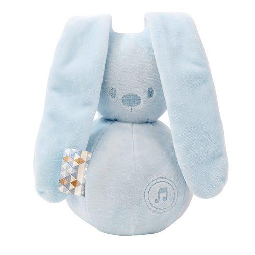 Pozytywka dla niemowląt Nattou Lapidou królik niebieski 20 cm