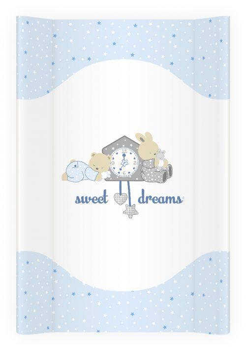 Nadstawka na łóżeczko przewijak 70x50 Plus Baby  twarda Słodkie sny niebieski
