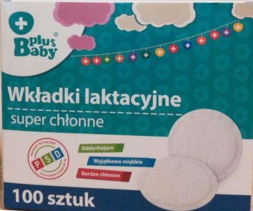 Wkładki laktacyjne super chłonne 100 szt Baby Plus