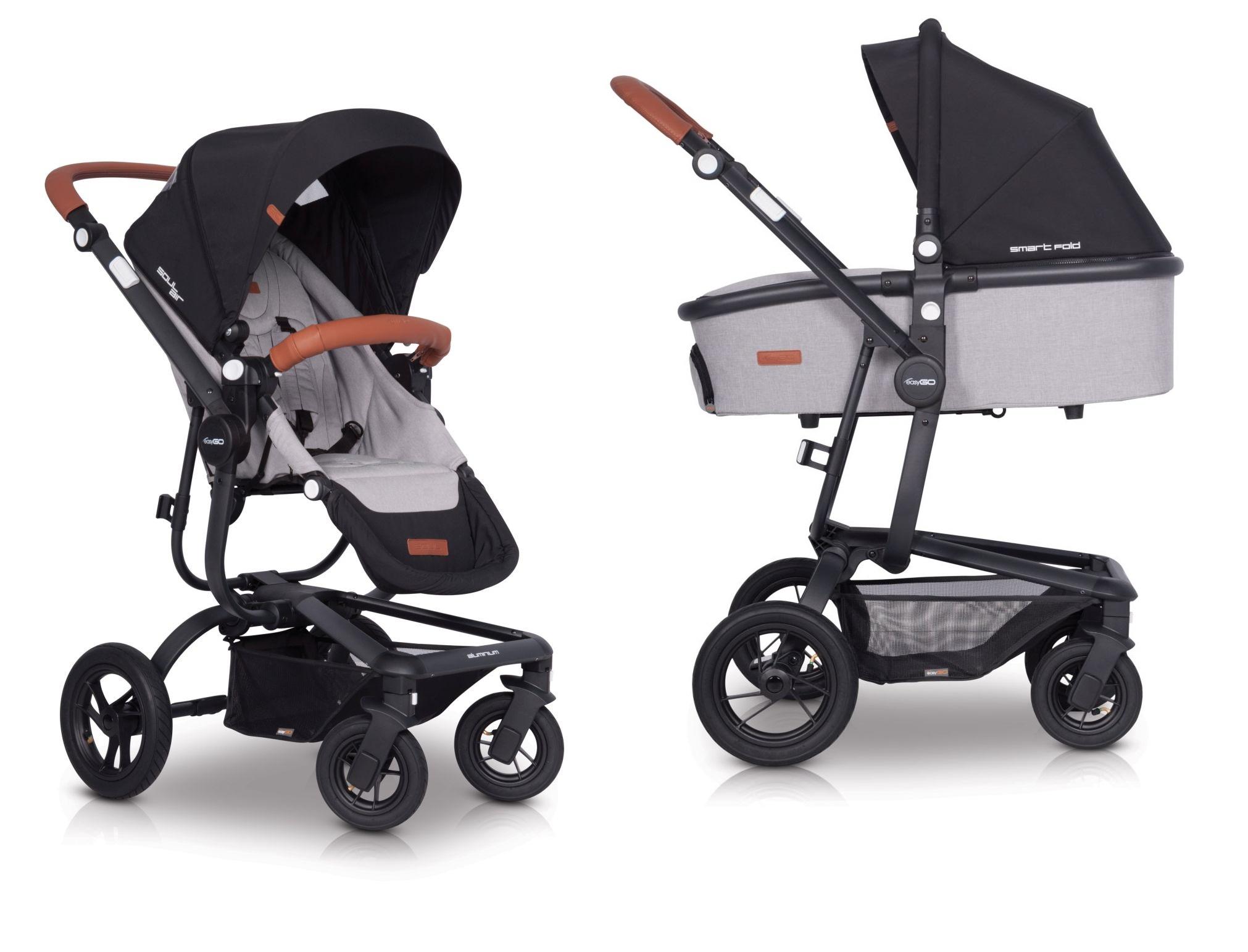 Wózek głęboko spacerowy Soul Air EasyGO 2w1 z opcją montażu fotelika 0-13kg