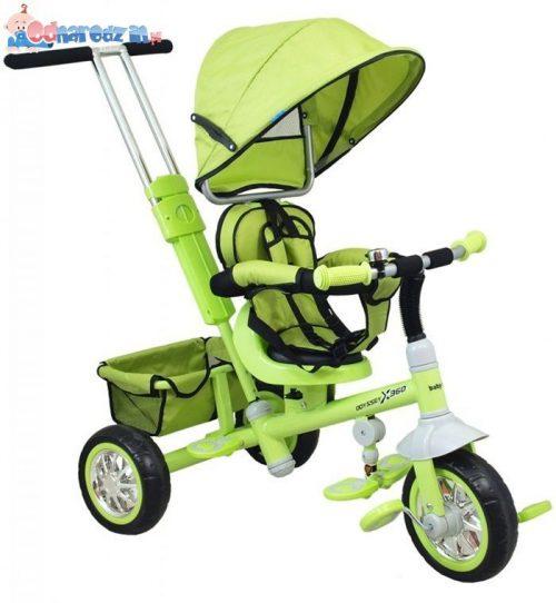Baby Mix  rowerek trójkołowy z pchaczem ODYSSEY Zielony