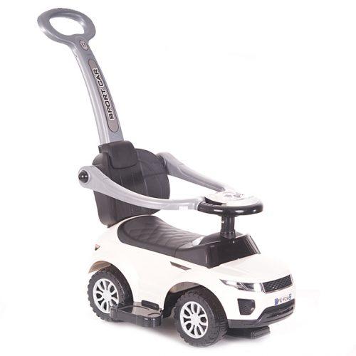Pojazd  z rączką do pchania  dźwiękiem dla dzieci Alexis biały