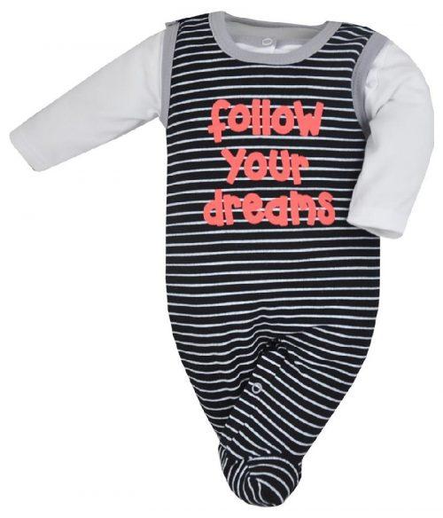 Komplet niemowlęcy śpioszki + kaftanik Borsuk Koala baby Czarny