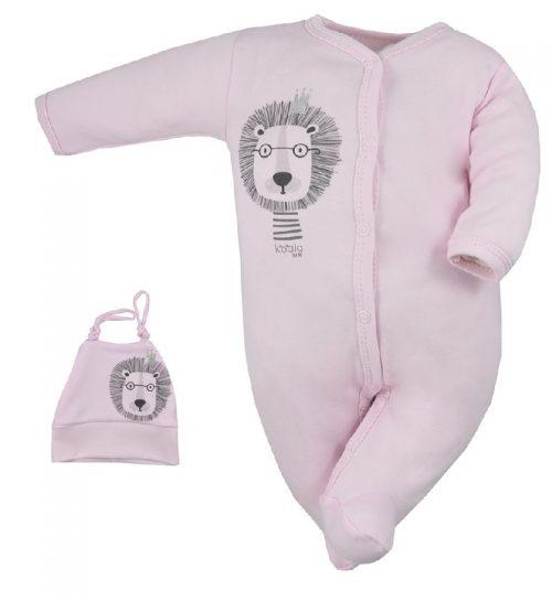 Pajac niemowlęcy z czapeczką Simba Koala Baby Różowy 62