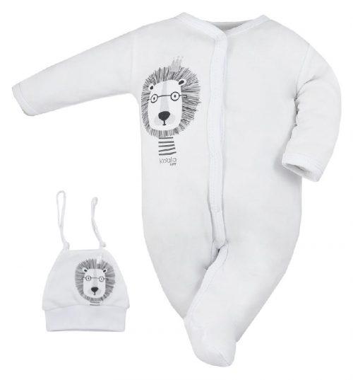 Pajac niemowlęcy z czapeczką Simba Koala Baby Biały 68