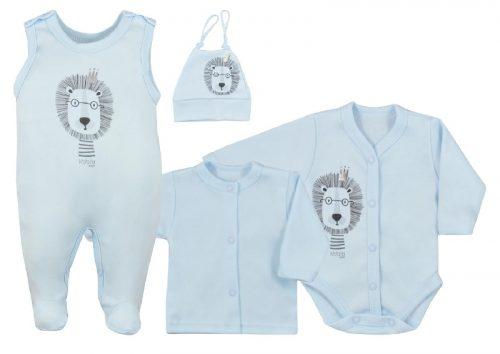 Wyprawka dla niemowlaka 4 elementowa Simba firmy Koala baby Niebieski 50