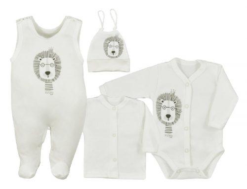 Wyprawka dla niemowlaka 4 elementowa Simba firmy Koala baby Kremowy 68