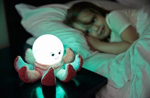 Lampka nocna Ośmiorniczka z pluszowymi mackami Cloud B Niebieski