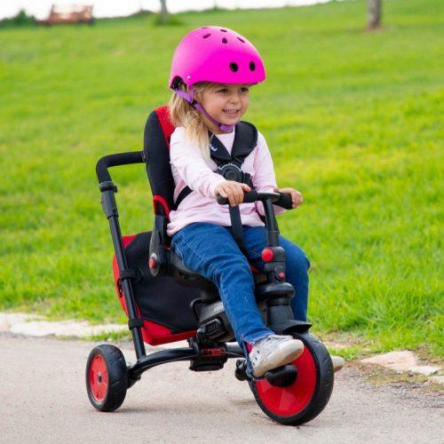 Rowerek trójkołowy 360 stopni wózek 8w1 Smart Trek czerwony