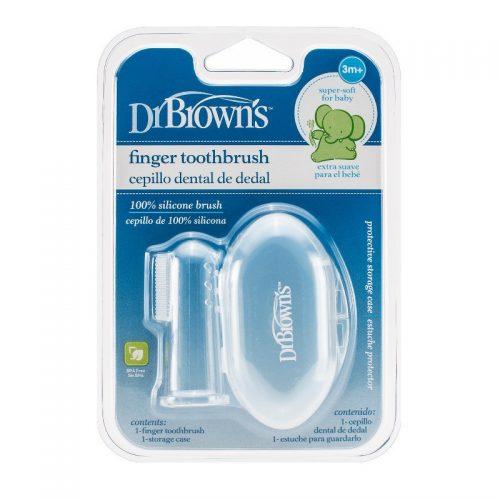 Dr Browns Silikonowa szczoteczka do czyszczenia zębów z pudełkiem
