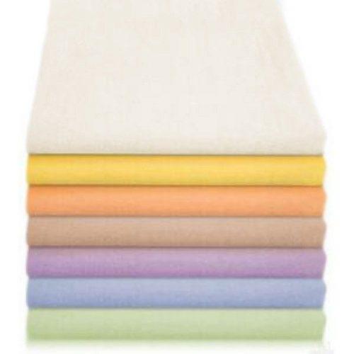 Flanelowa pieluszka jednokolorowa 70 x 80 cm Biały