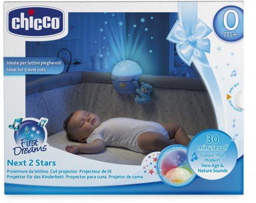 Chicco Projektor na łóżeczko Miś - niebieski