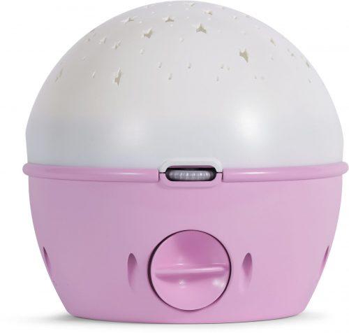 Chicco Projektor na łóżeczko Miś z lampką i melodyjkami różowy