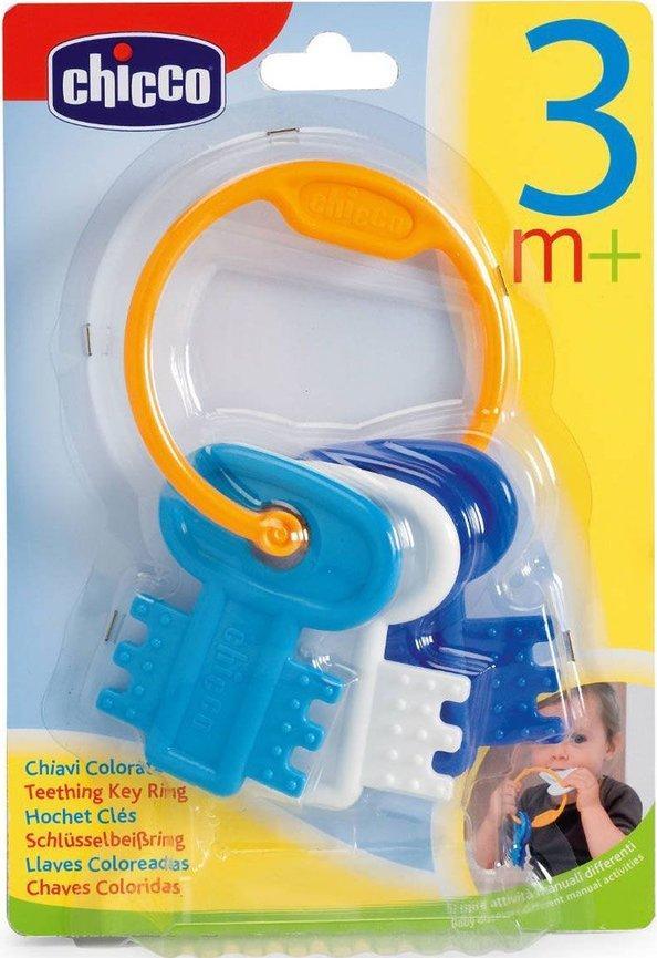 Chicco zabawka grzechotka klucze niebieskie