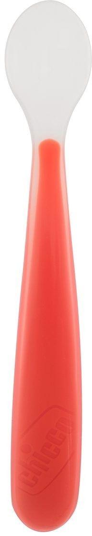 Chicco miękka łyżeczka silikonowa bordowa  6 m+