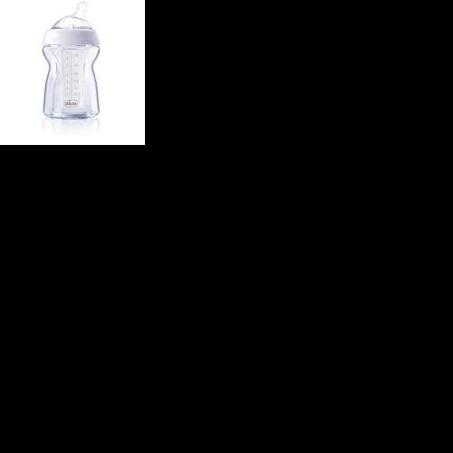 Chicco butelka szklana naturalfeeling 250 ml  smoczek wolny 0+