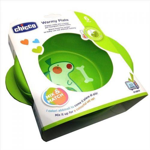 Podgrzewany talerz dla dzieci Chicco zielony 6m +