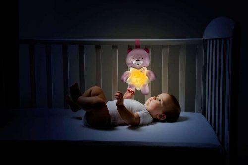 Pluszowy miż lampka na noc dla dziecka z pozytywką muzyki poważnej Bach Rosinni Chicco