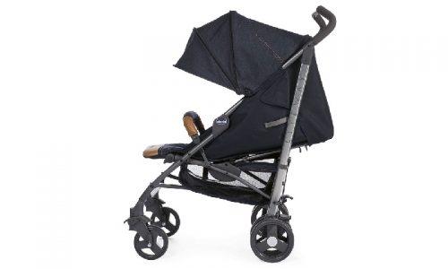 Lekki spacerowy wózek Chicco Lite Way 2 z pałąkiem parasolka jet black do 22,5 kilo
