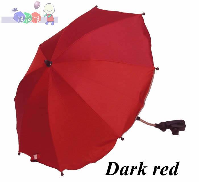 Uniwersalny parasol z filtrem UV do wózków głębokich i spacerowych Kees Red