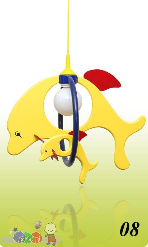 Lampa małe dwa delfiny kolor 08 Klik