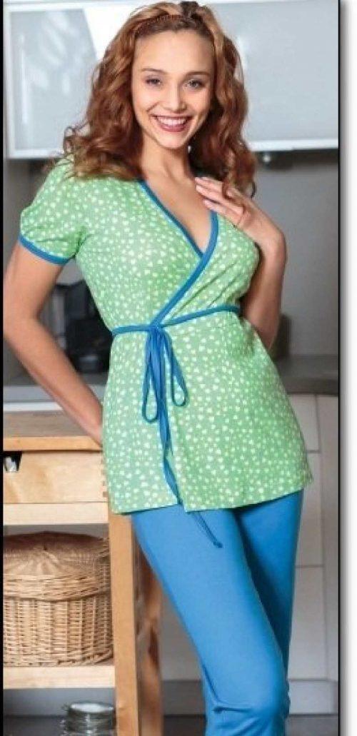 Piżama do karmienia dla mam 654 rozmiar S Regina zielona