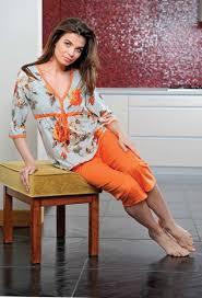 Piżama do karmienia dla mam 653 Regina rozmiar S_Łosoś