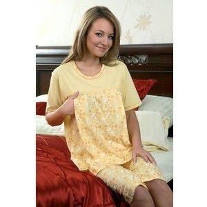 Regina piżama dla kobiet karmiących 652 rozmiar S Żółty