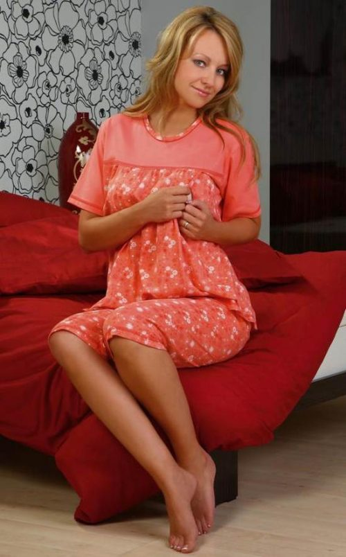 Piżama do karmienia dla kobiet 652 Regina rozmiar L Żólty