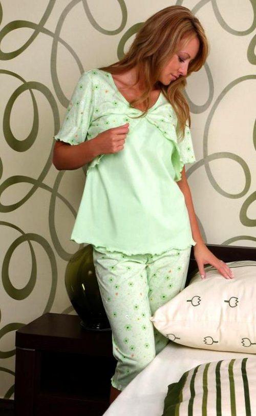 Piżama dla kobiet karmiących Regina 650 rozmiar XL Pistacja