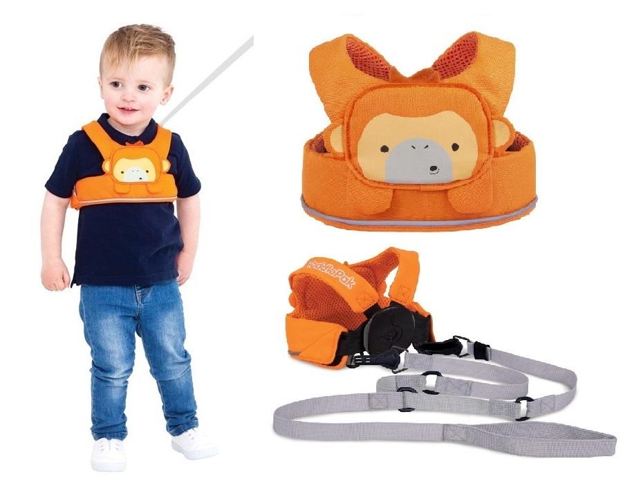 Bezpieczne szelki do nauki chodzenia lub nauki jazdy na nartach TODDLEPAK  firmy Trunki Pomarańczowy