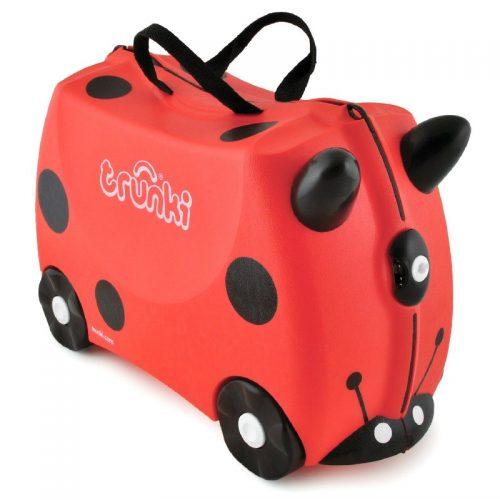 Walizeczka jeżdżąca Trunki - walizka dziecięca na kółkach Biedronka Harley
