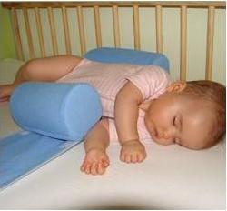 Bezpieczne wałeczki do spania bezpieczny sen Niebieski