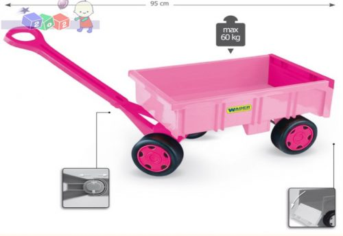 Różowy wózek dla dziewczynek Wader 10958