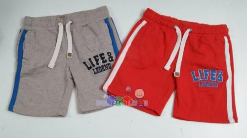 Krótkie spodnie dresowe ze ściągaczem Life and Legend 122-128 Czerwony
