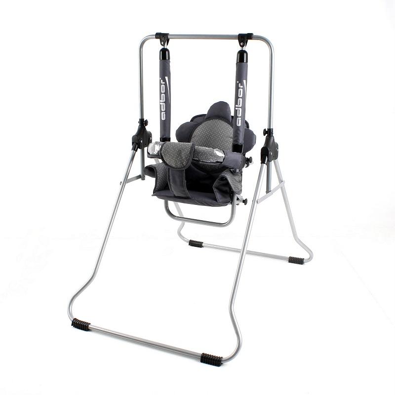 Huśtawka dla dziecka Luna firmy Adbor dla dzieci do 20 kg z tacką i daszkiem przeciwsłonecznym