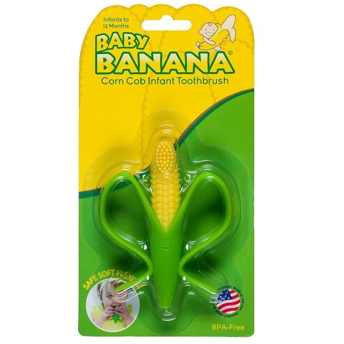 Treningowa szczoteczka dla niemowląt Baby Banana zieony banan