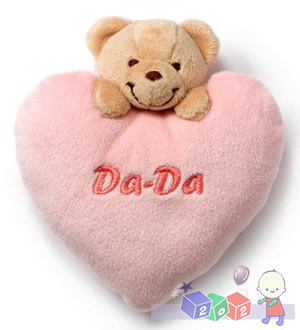 Pluszowe grzechotki z misiem Da-Da 12 cm Teddykompaniet Różowy