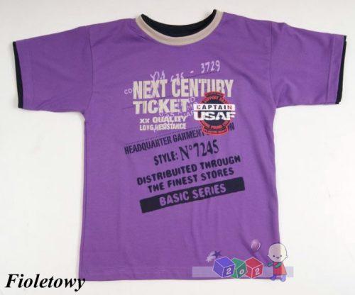 Modne koszulki dziecięce typu T-shirt z nadrukiem 122 Fioletowy