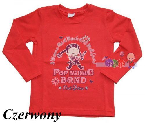 Bawełniana bluzeczka dziewczęcą Tip-Top 116 Czerwony