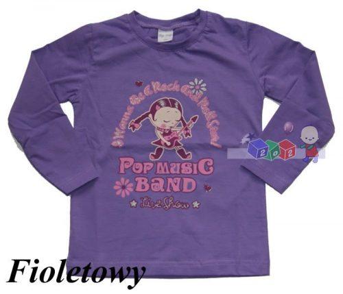 Bawełniana bluzeczka dziewczęcą Tip-Top 122 Fioletowy