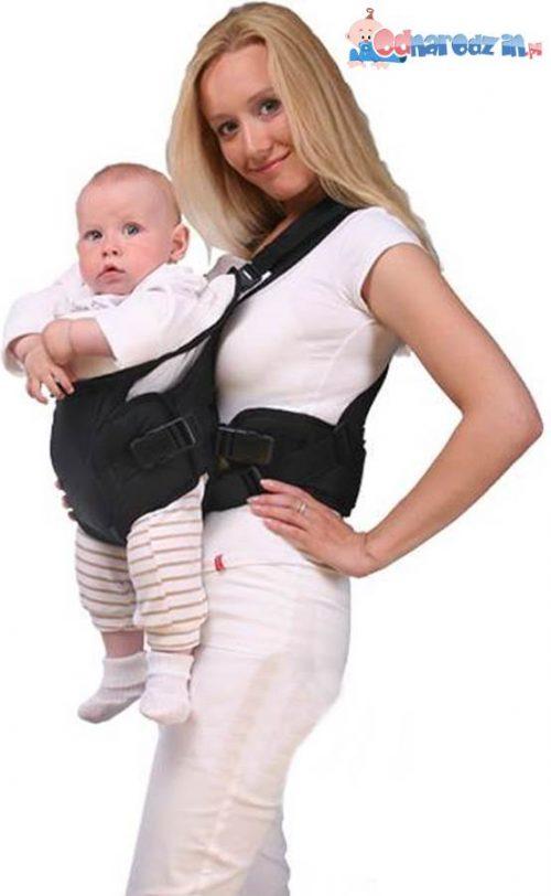 Womar nosidełko dla niemowląt N15 Zaffiro Czarny z czerwonym haftem